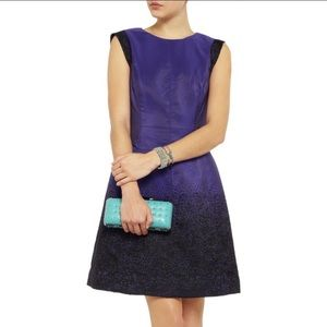 Halston Heritage ombré fit and flare dress